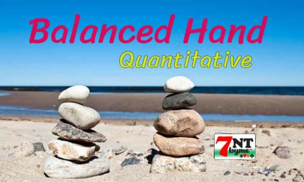 Quantitative in Bridge: The Balanced Hands
